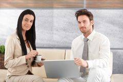 Portrait of attractive businesspeople smiling Royalty Free Stock Photo
