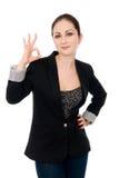 Portrait of attractive businesswoman Stock Images