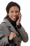 Portrait of attractive businesswoman on phone Stock Photos