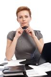 Portrait of attractive businesswoman Royalty Free Stock Images
