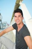 Portrait of an attractive caucasian man smiling outdoors Stock Photography