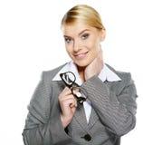 Portrait of attractive caucasian smiling woman Stock Image