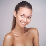 Portrait of attractive caucasian smiling woman Royalty Free Stock Photos