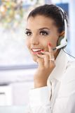 Portrait of attractive dispatcher smiling Stock Photos