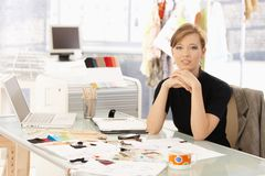 Portrait of attractive fashion designer Royalty Free Stock Images