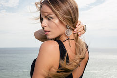 Portrait of attractive fashion woma Stock Photography
