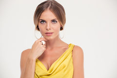 Portrait of attractive fashion woman Royalty Free Stock Image