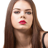 Portrait of attractive female with bright make-up Royalty Free Stock Photo
