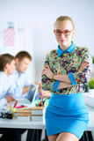 Portrait of attractive female designer in office Royalty Free Stock Photography