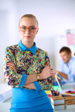 Portrait of attractive female designer in office Royalty Free Stock Photo