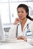Portrait of attractive female doctor Stock Photo