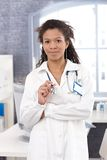 Portrait of attractive female doctor smiling Royalty Free Stock Image
