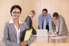 Portrait of attractive female executive Royalty Free Stock Photo