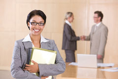 Portrait of attractive female executive Stock Photos
