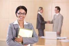Portrait of attractive female executive Stock Photos