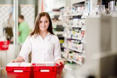Portrait of Attractive Female Pharmacist Royalty Free Stock Image