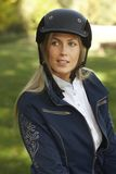 Portrait of attractive female rider Royalty Free Stock Photos