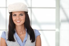Portrait of attractive female smiling Royalty Free Stock Image