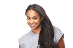 Portrait of an attractive female smiling Stock Photography