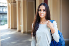 Portrait of attractive female student Stock Image