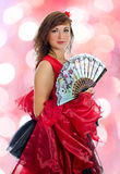Portrait of attractive flamenco dancer. Stock Photography