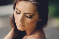 Portrait of attractive girl Royalty Free Stock Photos