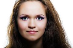 Portrait of an attractive girl. fashion makeup Royalty Free Stock Photo