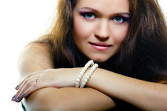 Portrait of an attractive girl. fashion makeup Stock Photo