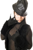 Portrait of attractive girl in gloves with claws Stock Photo