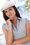 Portrait of attractive girl in hat Stock Photo