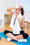 Portrait of an attractive girl having rest after sport Royalty Free Stock Photography