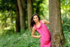 Portrait of attractive girl outdoor Stock Photography