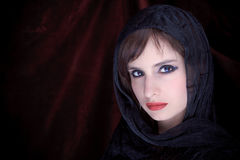 Portrait of an attractive girl with a scarf hijab Royalty Free Stock Images
