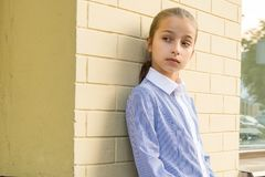 Portrait of attractive girl of 10-11 years old Stock Photography