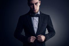 Portrait of attractive handsome stylish fashion Stock Photo