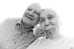 Portrait of an attractive happy senior couple royalty free stock photos