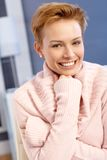Portrait of attractive happy woman Royalty Free Stock Photography
