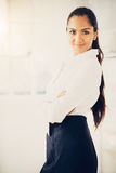 Portrait of attractive Indian businesswoman in  modern office Stock Image
