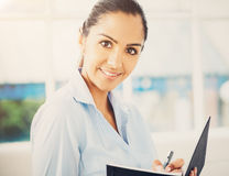 Portrait of attractive Indian businesswoman working from home Royalty Free Stock Images