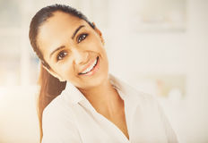 Portrait of attractive Indian businesswoman  working from home Stock Image