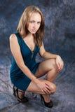 Portrait of attractive intent girl. Studio portrait of attractive intent girl Royalty Free Stock Images