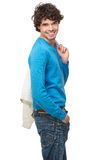 Attractive Man Smiling. Portrait of an attractive man smiling Royalty Free Stock Photography