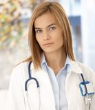 Portrait of attractive medical student Stock Photography