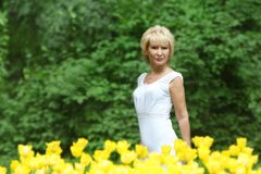Portrait of attractive middle-aged woman Stock Photography