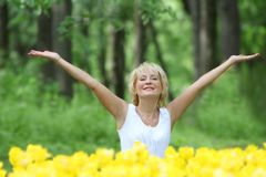 Portrait of attractive middle-aged woman Stock Image