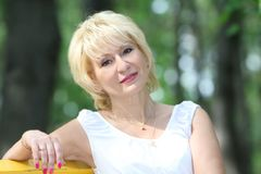 Portrait of attractive middle-aged woman Royalty Free Stock Photo
