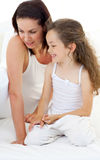 Portrait of an attractive mother with her daughter Stock Image