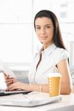 Portrait of attractive office girl Royalty Free Stock Photos