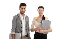 Portrait of attractive office workers smiling Stock Photo