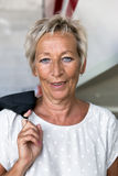 Portrait of a attractive older Business woman Royalty Free Stock Image